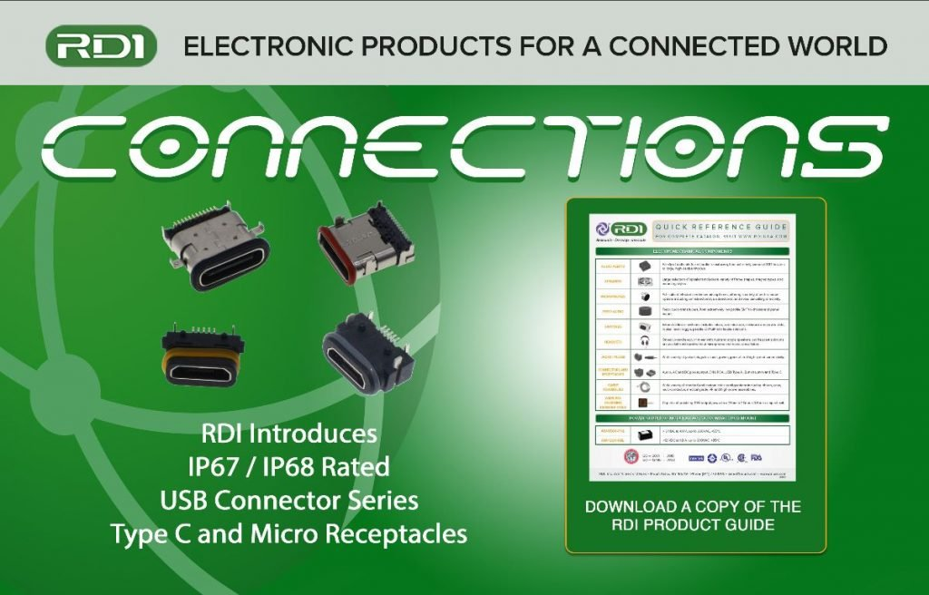 IP67 / IP68 rated USB connector series type c micro receptacles