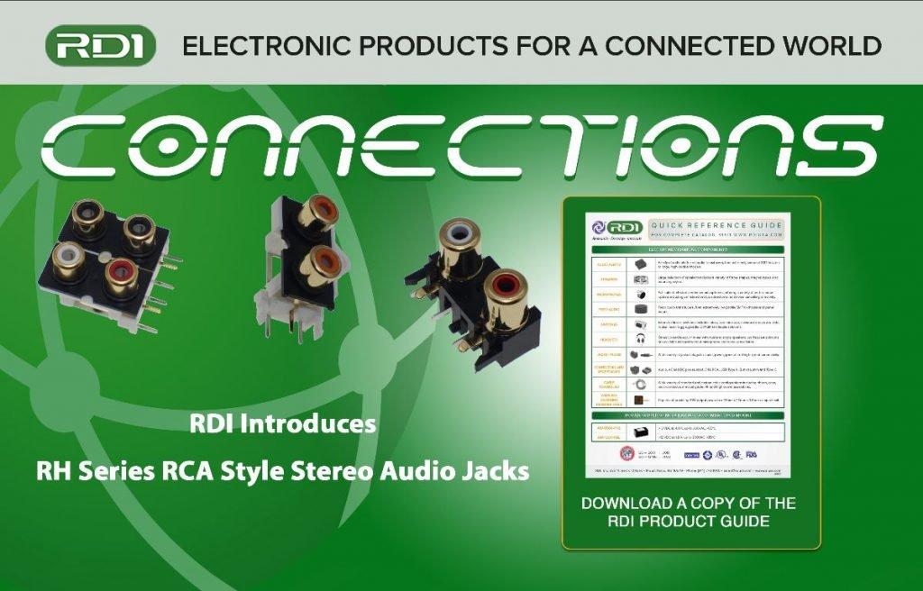RH series RCA style stereo jacks