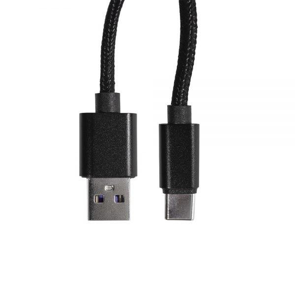 USB A to USB C Black 6.5ft