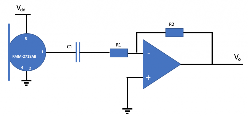 Analog MEMS mic with inverting amplifier