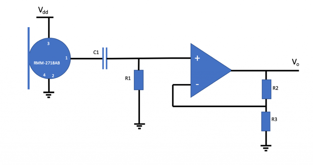 Analog MEMS mic with non-inverting amplifier